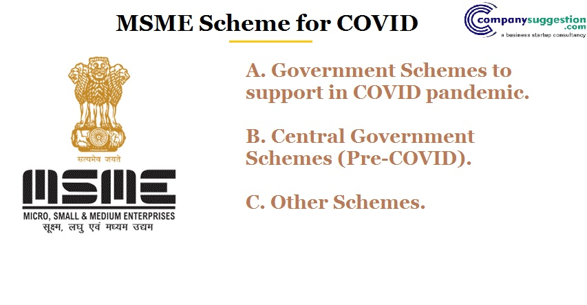 MSME Scheme for COVID